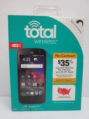 ANDROID TOTAL WIRELESS 4G LTE ZTE MAJESTY PRO SMARTPHONE NO CONTRACT - NT 3627