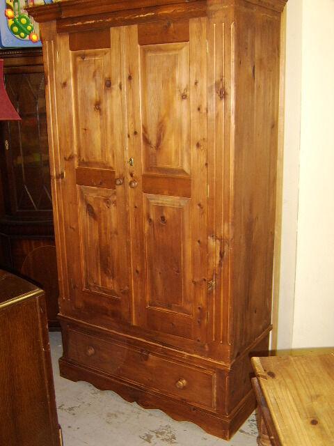 Sold pine wardrobe