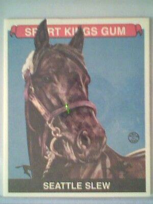 SEATTLE SLEW   HORSE RACING SPORTKINGS GUM VINTAGE MINI INSERT CARD SP