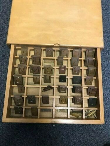 Gorton Machine Corporation Engraving Company Brass Block Master Copy Set 3/4""