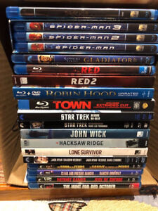 23 Mint Condition Action Bluray Movies $4.00 each
