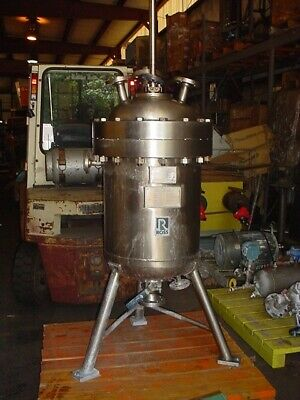 35 Gallon Ross 316l Ss Jacketed Autoclave Reactor Tank 390 Psi Sweep Mix