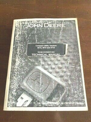 November 2002 John Deere Cut 4510 4610 4710 Technical Manual Tm1986