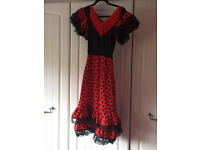 Spanish style dress for Halloween or stage show