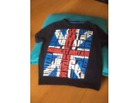 2 Boys T-Shirts (Rebel brand), and one boys checked shirt age 3-4yrs all only worn once