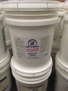 5 GALLON OF SEMI-GLOSS WHITE $85 EACH