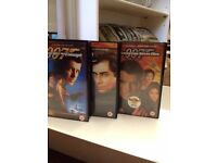 Collectable *JAMES BOND 007* x3 VHS Video Recordings Pierce Brosnan Tim Dalton