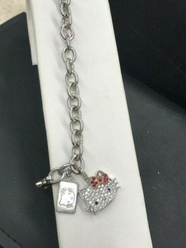 Sanrio Hello Kitty Sterling Silver CZ Bracelet
