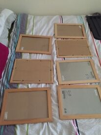 7 x IKEA Picture Frames