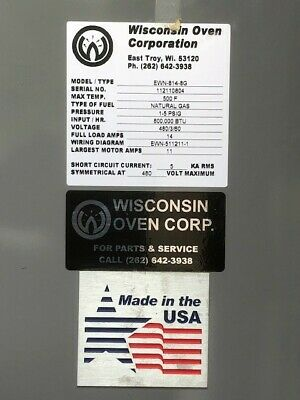 New Wisconsin 8 X 8 X 12 Powder Coatingcuring Oven -