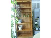 tall solid pine bookcase,free local delivery