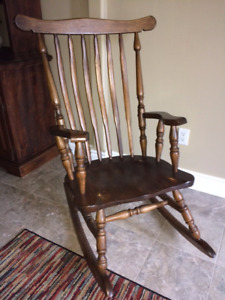 GORGEOUS Antique Rocking Chair - Solid Wood
