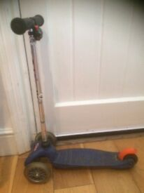 Micro mini scooter blue, used two years, great condition, everything works fine
