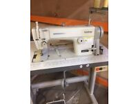 Industrial Sewing Machine.Good working order. Complete with Table,Motor.Single needle lock stitch