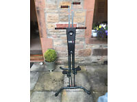 Maxi Climber workout gym machine : as new as hardly used. Comes with weatherproof cover