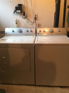 Great Maytag washer and dryer set for sale