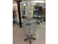 Shop display rack for hanging items