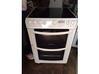 £115.00 Hotpoint ceramic electric cooker+60cm+3 months warranty for £115.00