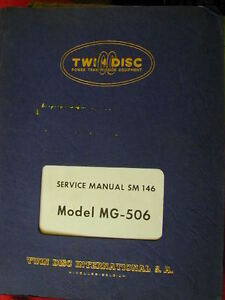 TWIN DISC MG-506,  513 & 514 MARINE TRANSMISSION  SERVICE MANUALS Dianella Stirling Area Preview