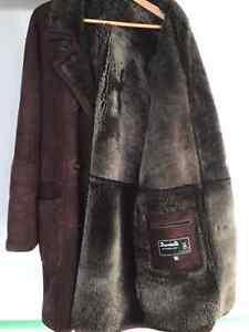 Men's leather and fur coat size L/XL