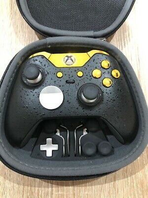 XBOX ONE ELITE CUSTOM CONTROLLER LIMITED EDITION BLACK AND GOLD