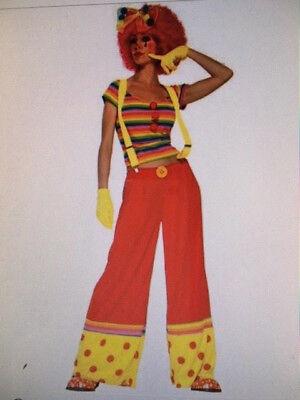 Womens Sexy CLOWN Ronald McDonald Funny Fancy Dress Costume - Mcdonald Kostüm