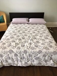 Ikea full bed with foam matress and topper - Must pick up