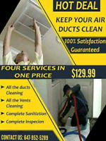 HOT DEAL ONLY $129.99 FOR DUCT CLEANING WITH UNLIMITED VENTS