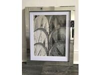 Glass frame with mount and picture
