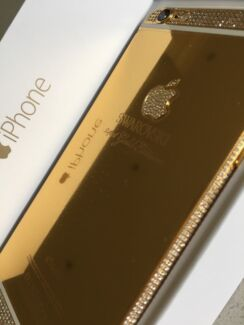 SWAROVSKI 24CT GOLD IPHONE 6 4.7-inch 128GB WHITE BRAND NEW Kellyville The Hills District Preview