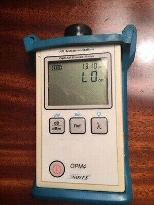 Noyes Omp4-4d Optical Power Meter Afl Telecommunications