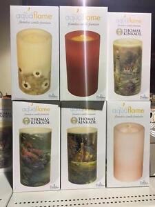 "Bethlehem Aquaflame Lights 8.5"" Aqua Flameless Candle Fountain w/Timer"