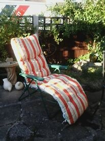 2 sun loungers _ rarely used so in very good condition.