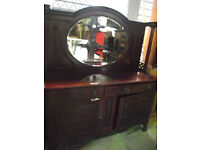 An Edwardian mahogany mirror backed sideboard