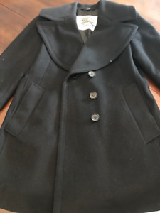 ec2c48b5264 Burberry wool cashmere blend double breasted peacoat