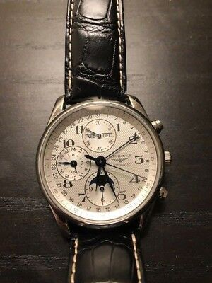 LONGINES  Master collection Chronograph Moon phase Used SERVICED 100% Authentic  Chronograph Moon Phase Watch
