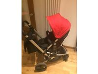Xpedior Pram and Pushchair Travel System RED COLOUR+Car seat