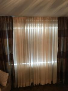 Silk curtains - beige/brown -