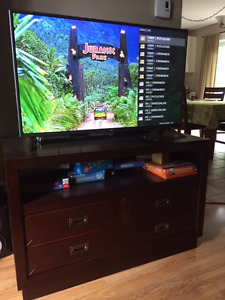 TV stand and matching bookcase