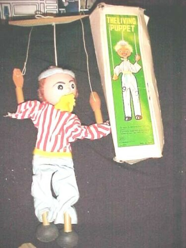 VINTAGE SHACKMAN The Living Puppet With Strings in Original Box MADE IN JAPAN