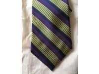 Hickey Freeman Purple and Green Tie - Brand New With Tags