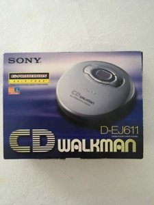 Purple Sony CD Walkman D-EJ611 Skip Free G- Protection