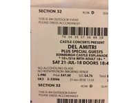 Del Amitri Edinburgh Castle 2 tickets £50 each Sat 21/7/18