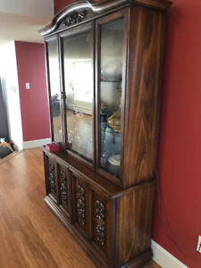 Vintage 1960's china cabinet display INDONESIA GORGEOUS