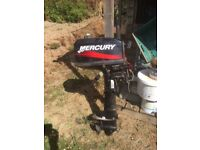 Mercury 4hp long shaft outboard engine, never used, in as new condition must be seen to believed .