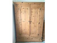 Great quality sturdy pine wardrobe