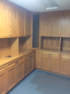 Used Solid Wood kitchen/Garage Cabinets