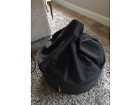 BEAN LAZY BEAM BAG BLACK (DELIVERY AVAILABLE)