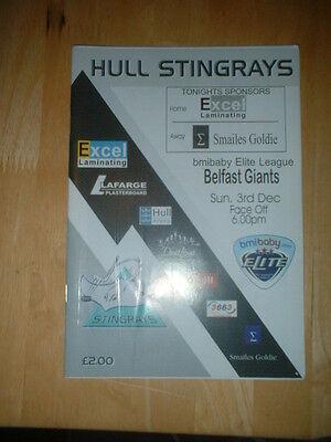 2006/7 HULL STINGRAYS V BELFAST GIANTS ICE HOCKEY