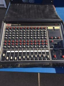 Vintage HH Electronic Stereo 12 Powered Mixing Board